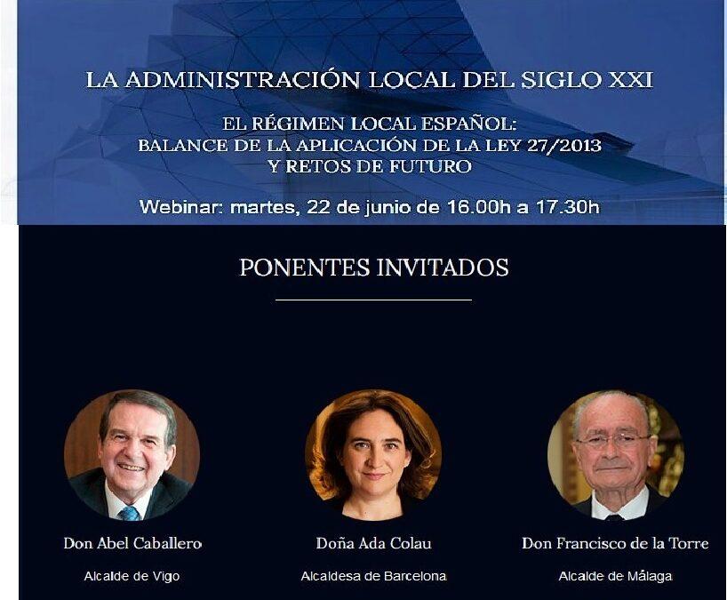 Ada Colau, Abel Caballero y Francisco de la Torre, protagonistas del primer Encuentros en el Consejo de Estado